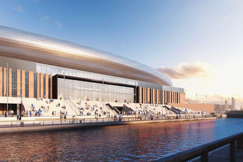 Artist's impression of new Everton stadium