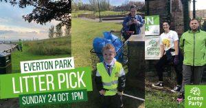 Everton Park litter picking on Sunday 24 October Web